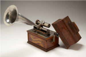 Fig 3: Columbia Gramophone used by Densmore, approximately 1897 Courtesy of Minnesota Historical Society