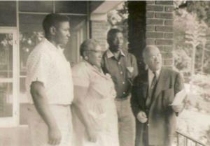 Wallace Ingram (from left) stands with Rosa Lee Ingram, Samuel Ingram and Clayton R. Yates. source: http://newsone.com/2862078/rosa-lee-ingram/