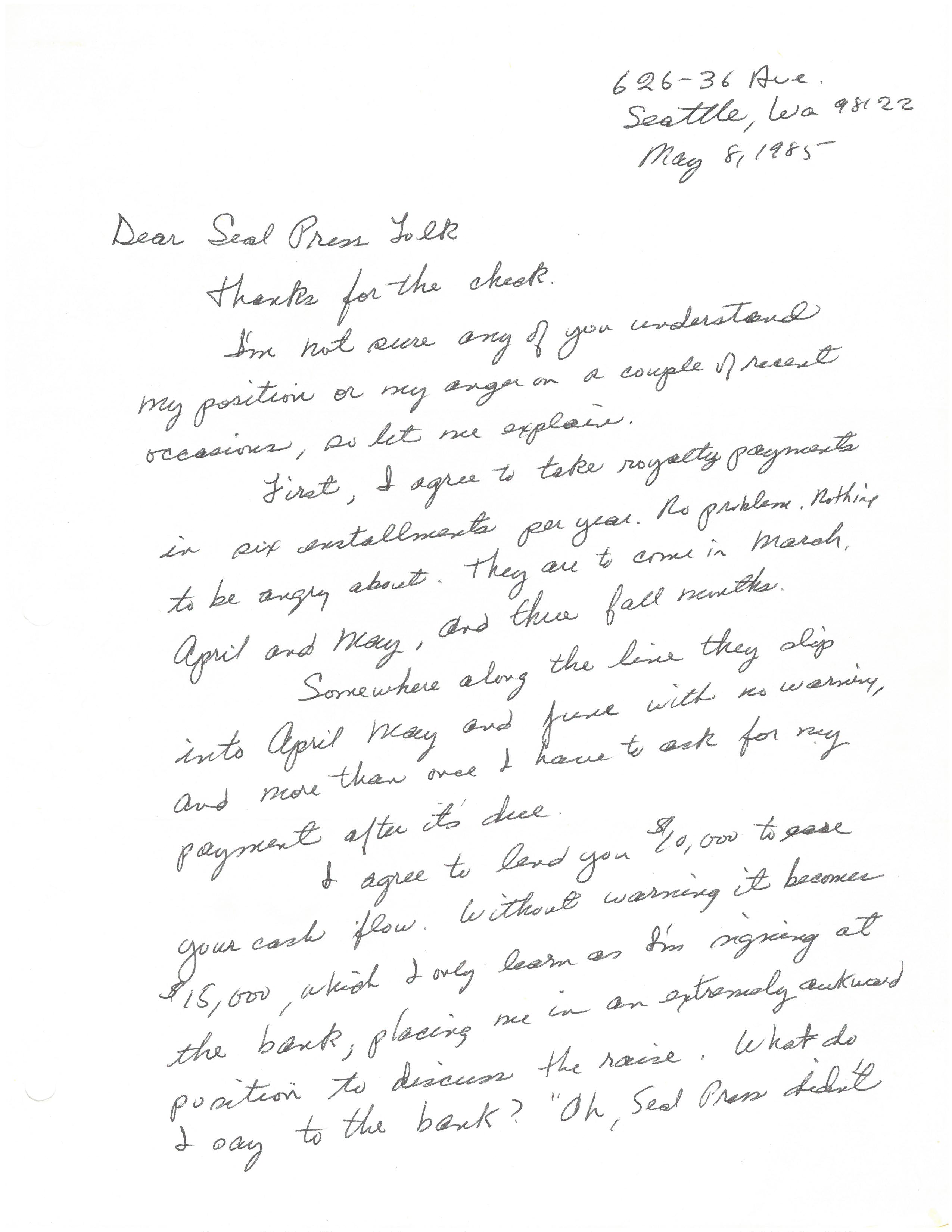 may 1985 letter pt1