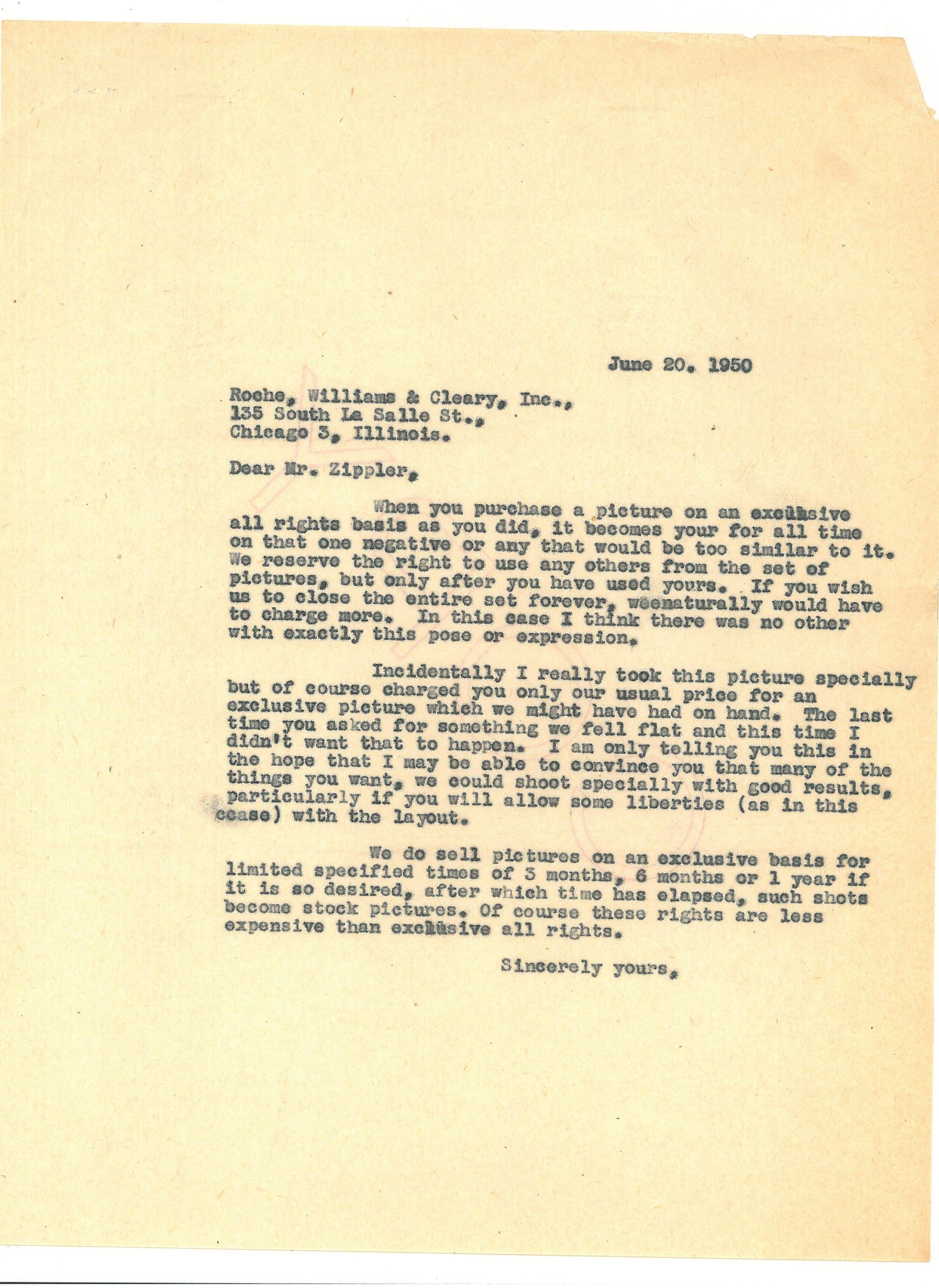 1950 zippler letter