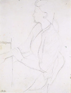 "Diebenkorn, Richard. Study for ""Woman by a Large Window,"""